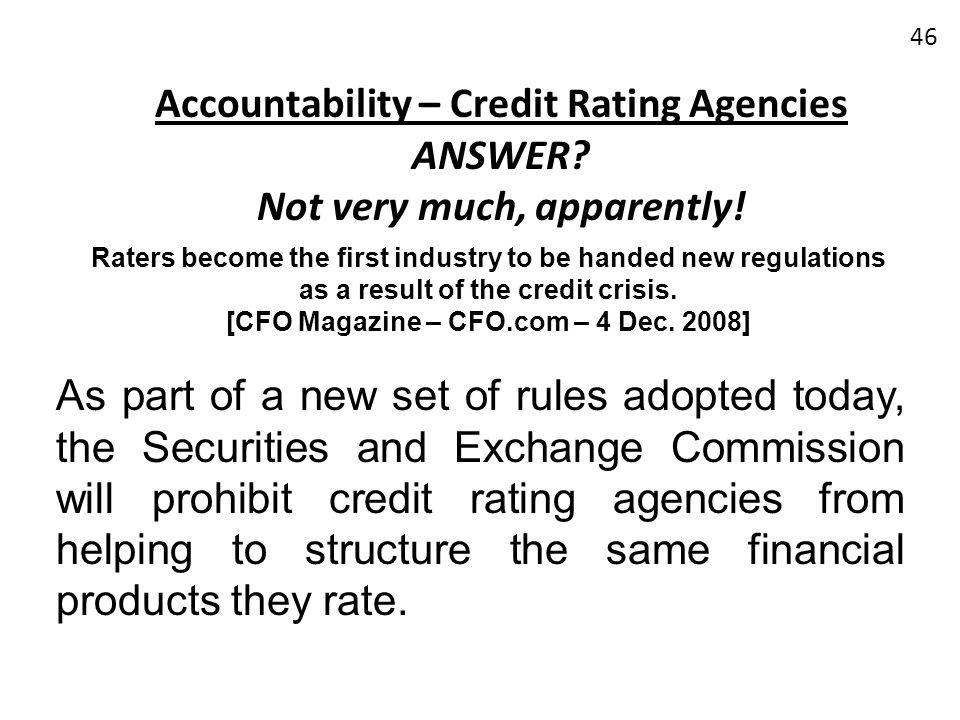 [CFO Magazine – CFO.com – 4 Dec. 2008]